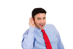Man listening to secret Royalty Free Stock Photos