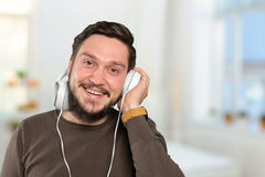 Man listens to music Royalty Free Stock Photography