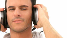 Man listens to music Royalty Free Stock Photos