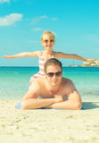 Man and little girl. Royalty Free Stock Photo