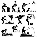 Man Living in a Rural Area Countryside Lifestyle Clipart Royalty Free Stock Images