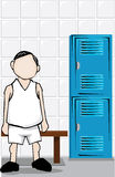 Man in locker room Royalty Free Stock Photos