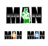 Man. This logo suit for man underwear fitness center healthcare royalty free stock photography