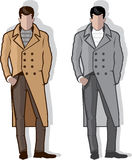 Man in long coat vector Royalty Free Stock Photography