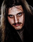 Man With Long Hair Stock Image