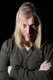 Man with long hair Royalty Free Stock Photos