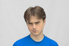 Man look gloomy stock photo