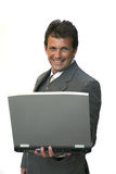 Man look on laptop Stock Photography