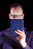 Man look into a tablet Royalty Free Stock Photo