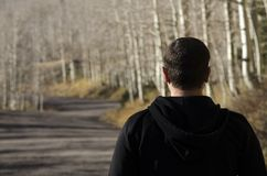 Free Man Looking Ahead To The Path In Front Of Him. Royalty Free Stock Photography - 106881647