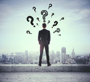 Man looking for answers Stock Photos