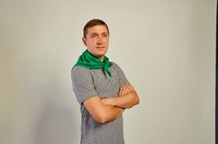 Man looking aside Stock Photography