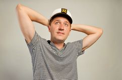 Man looking aside Royalty Free Stock Photos