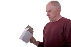 Man Looking At White Box Royalty Free Stock Images