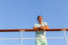 Man looking away cruise Stock Photos