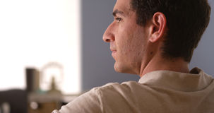 Man looking away and thinking Royalty Free Stock Image