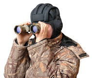 A man looking through binoculars Royalty Free Stock Image