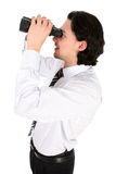 Man looking through binoculars Stock Photography