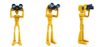 Man looking through the binoculars Royalty Free Stock Images