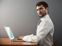 Man looking at camera with astonishment Stock Images