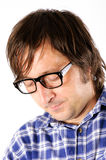 Man looking down Stock Photography