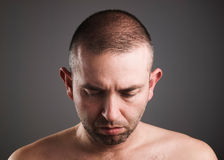 Man looking down Royalty Free Stock Image