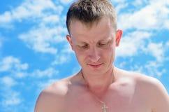 Man looking down Royalty Free Stock Image