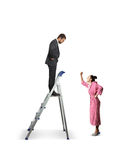 Man looking down at woman Royalty Free Stock Images
