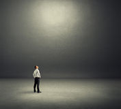 Man looking at empty copyspace Royalty Free Stock Image
