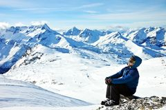 Man looking enjoying the view Stock Photography