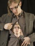 Man looking at himself_1 Stock Image