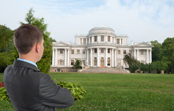 Man looking at his dream house Stock Photos