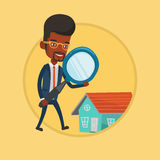 Man looking for house vector illustration. Stock Images