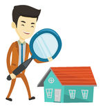 Man looking for house vector illustration. Royalty Free Stock Photography