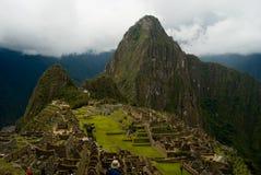 Man looking into Machu Picchu Royalty Free Stock Photo