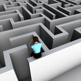 Man looking into a maze Royalty Free Stock Photo
