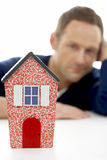 Man Looking At Model House Royalty Free Stock Photo