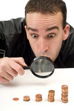 Man Looking At Money Stock Images