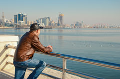 The man looking at the sea Royalty Free Stock Photo