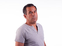 Man looking serious or angry Royalty Free Stock Image