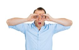 Man looking shocked Royalty Free Stock Images