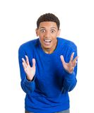 Man looking shocked and surprised Royalty Free Stock Images