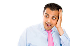 Man looking surprised looking to side Royalty Free Stock Photos