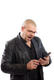 Man looking on a tablet PC Royalty Free Stock Photo
