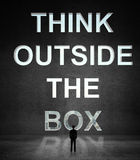 Man looking at think outside the box Royalty Free Stock Photo