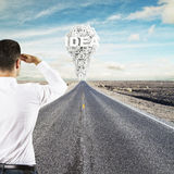Man looking to idea Royalty Free Stock Photography