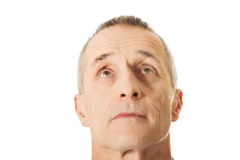 Man looking up Stock Image