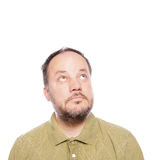Man looking up Royalty Free Stock Image