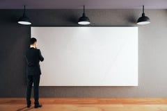 Man looking at whiteboard Royalty Free Stock Photo