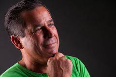 Man lookng happy and serene. Middle aged man lookng happy and serene portrait Stock Photography